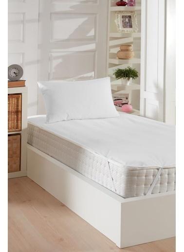 Decovilla  150x200 Pamuklu Köşe Lastik Sıvı Geçirmez Yatak Koruyucu Alez Beyaz